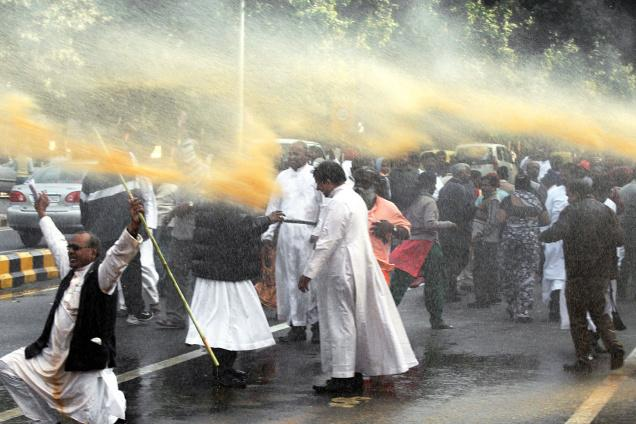 Catholic priest were among the rioters in Delhi on December 11th 2013.