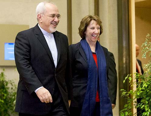 "Iranian FM ‪Mohammad Javad Zarif and Baroness Ashton‬ have become ""peace partners""."