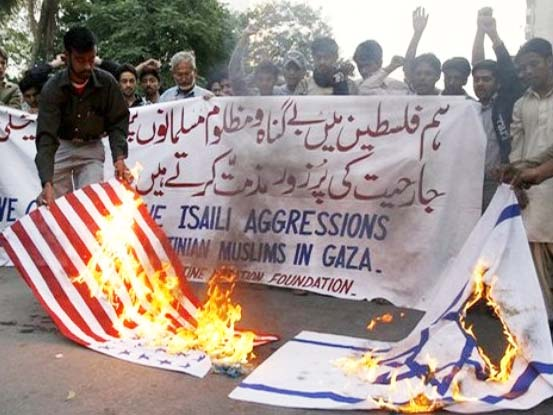 The Islamic World display their true feelings for the USA and Israel.