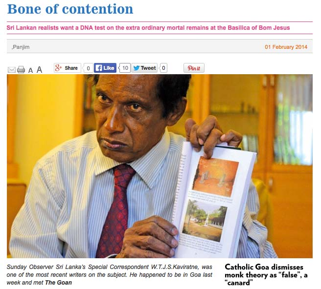 Senior Journalist Mr. Kaviratne is an award winning Sri-Lankan journalist.