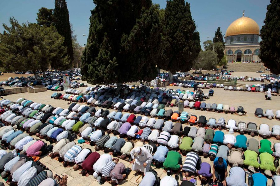The Muslims put their butts up against the Dome of the Rock, when they pray at the Temple Mount.