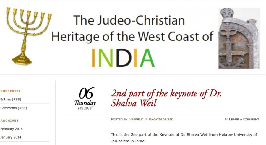 Click on this image to go to the site of the keynotes of the Conference in Goa.