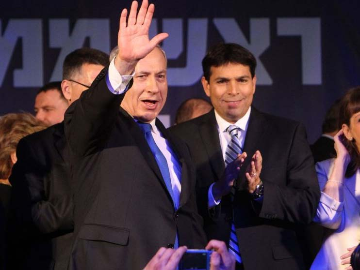 Benjamin Netanyahu and Danny Danon is happier times, when the pressure on Zionism was less.