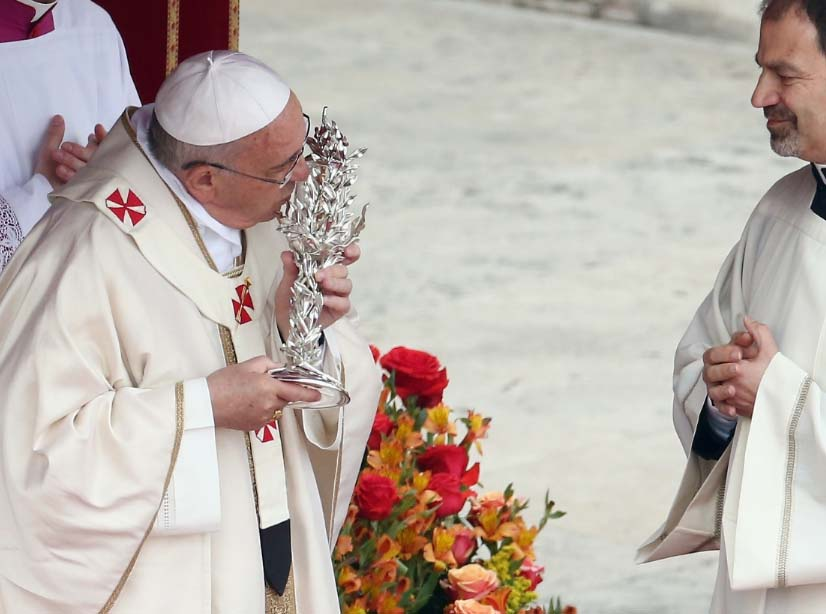 The Pope kiss and worship blood trapped from a dying mortal man.