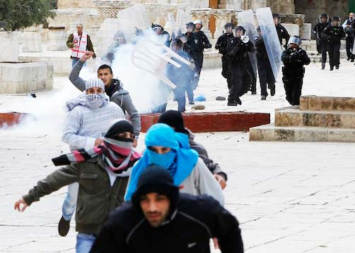 The latest riot at the Temple Mount took place as the blood moon appeared at Passover.