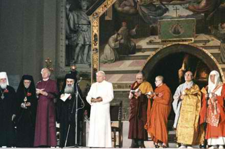 The 1986 Interfaith gathering in Assisi organized by the Vatican.