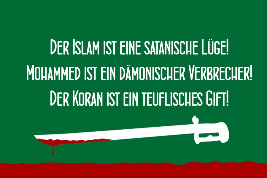 This sticker in German tell the truth about Islam.