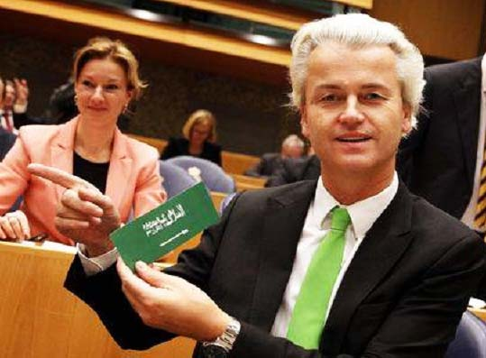 Geert Wilders tell the truth about Islam and gets the Sharia on his neck.
