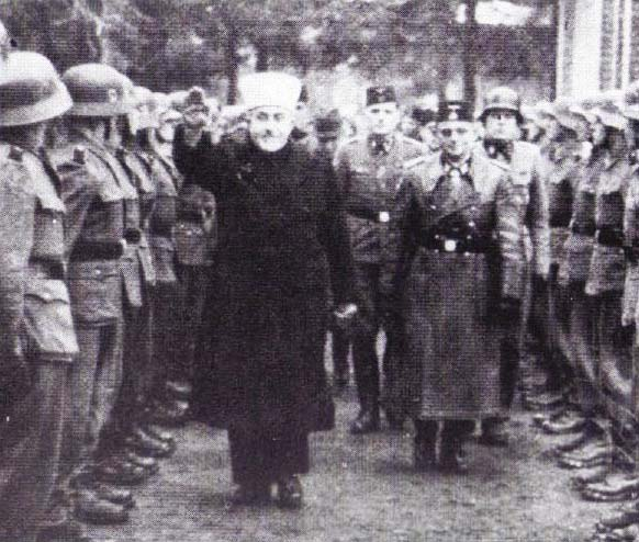 The Mufti of Jerusalem was a Nazi. Her inspecting Muslims in Croatia, to be send to evict the British from Jerusalem in 1944.