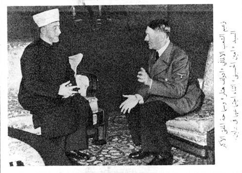 The Mufti with Hitler in Berlin in 1942.