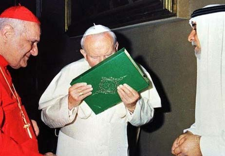 """The newly canonized Pope kissed the Koran and accepted Allah as his """"god""""."""