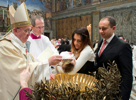 "Pope Francis display the wickedness of the Roman Catholic doctrine of ""baptism""."