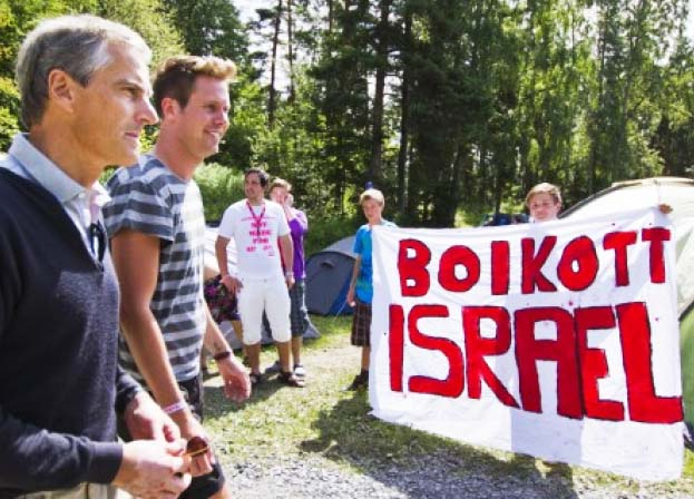July 21st 2012. Jew-hate is displayed by the Norwegian Minister of Foreign Affairs at Utoya.