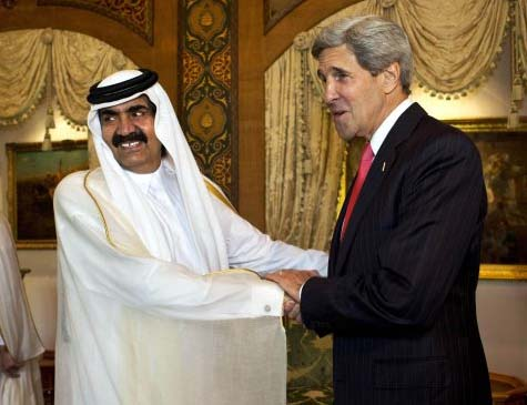 Sheikha Alya Bint Ahmed Bin Saif al Thani and John Kerry are in alliance.