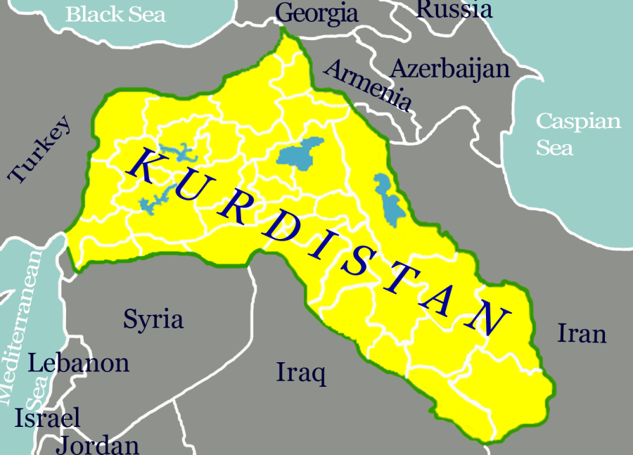 Kurdistan is occupied by Turkey, Iran, Iraq and Syria.