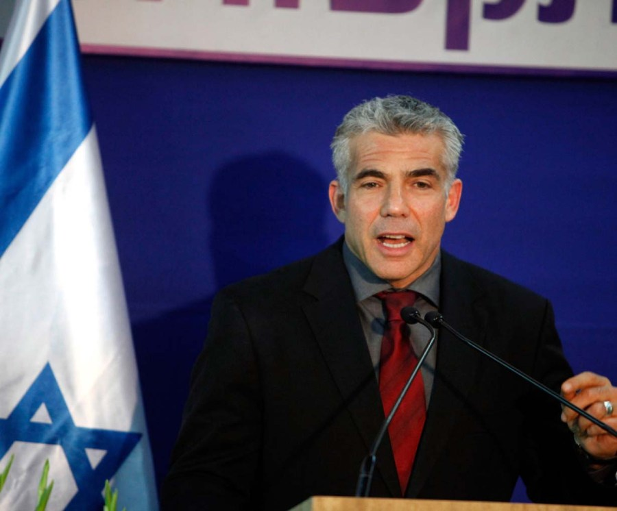 Yarh Lapid give in to Islamic demands, offer squeezing of Jewish settlers.