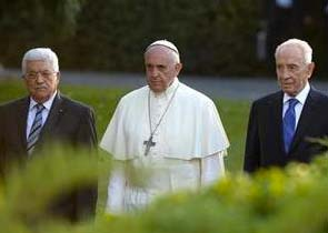 The head of the PLO, the Pope and Shimon Peres.