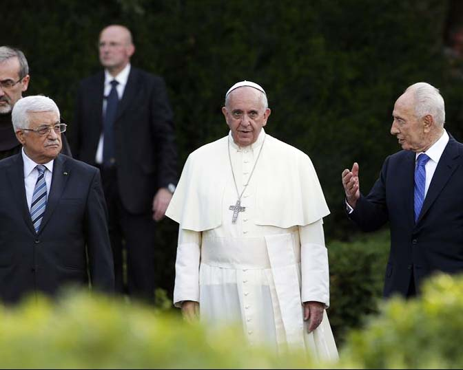 The Pope used Catholic Mary as the mediator in the Vatican garden prayer gathering.