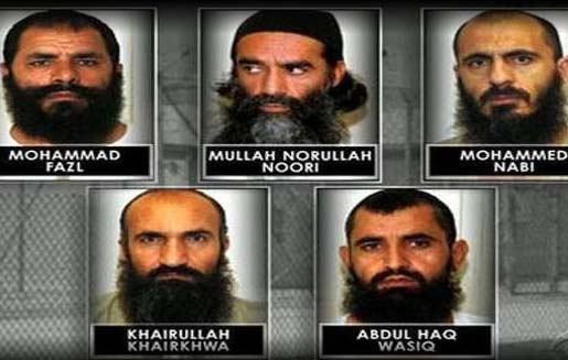 Thanks to Barack Hussein Obama these men are back in the leadership of the Taliban.