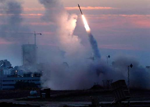 Iron dome protects Israel from rocket fired from Gaza.