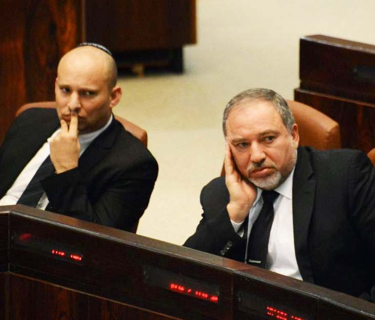 Benjamin Netanyahu is again in open conflicts with his two cabinet minsters, Naftali Bennet and Avigdor Lieberman.