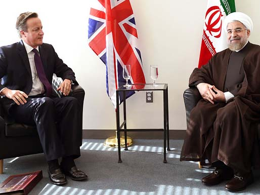 British Prime Minister David Cameron will David Cameron is face-to-face talks with Iranian President Hassan Rouhani,