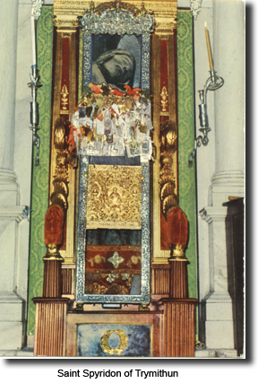 "The head of the ""saint"" is kept for display above the altar."