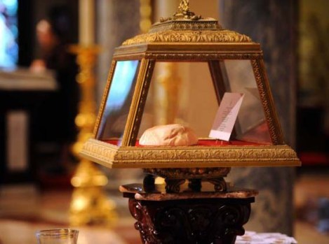 "The ""holy cap"" of the Holy see in the Vatican."