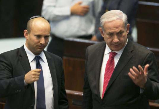 Naftaly Bennet display distrust in prime minister Benjamin Netanyahu.