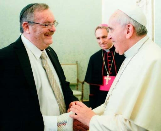 "The head of the Bar University traveled to Rome to give the Pope a ""peace award""."