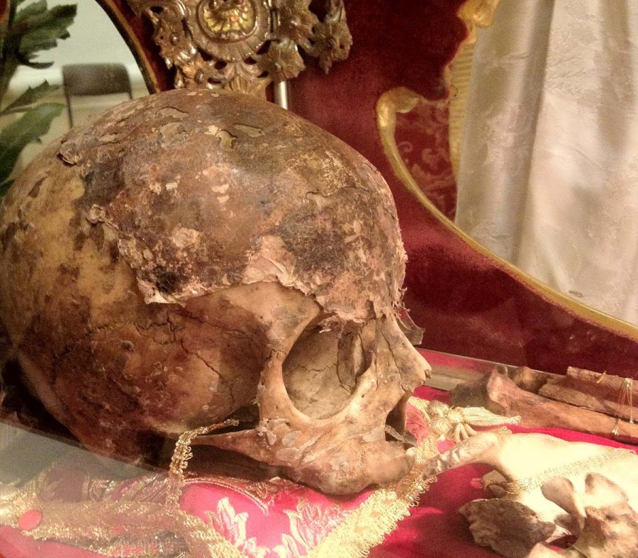 The skull of Theodor who lives in the Byzantine empire is kept in Brindisi in Italy.