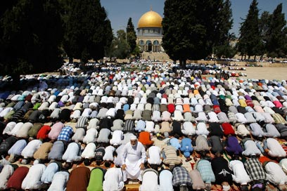 The Musims put their but up against the Dome of the Rock when they pray in Jerusalem.