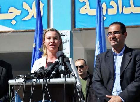 The new EU Foreign Policy minister hailed Facsism and the Hamas regime by just attending a Hamas sponsored press