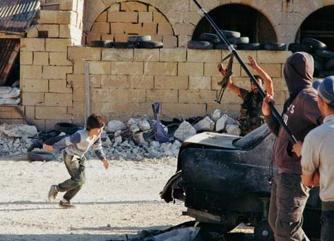 Child labors are used to defame the secular regime in Syria, fighting for the Islamic state.
