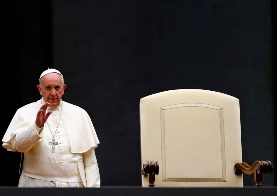 The Pope has a hot seat ready for you. Would you like to sit?
