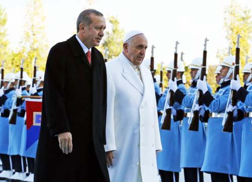 The Pope hope he can be loved and accepted by all men, also the Turkish Prime Minister.