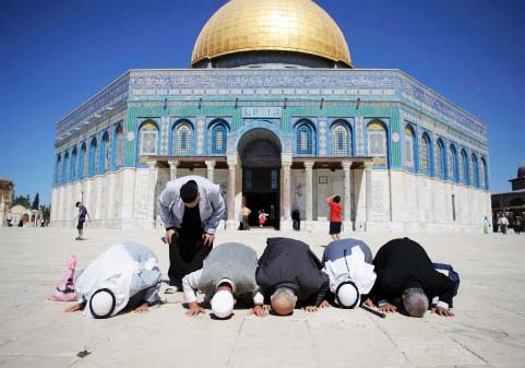 "When Muslims pray at the Temple Mount, they put their but towards their claimed ""holy site"" in Jerusalem."