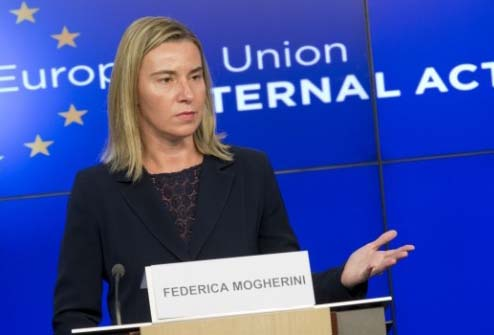 EU commisioner Federica Mogherini‬ walks in the footsteps of the Nazis, legalizing the Hamas.