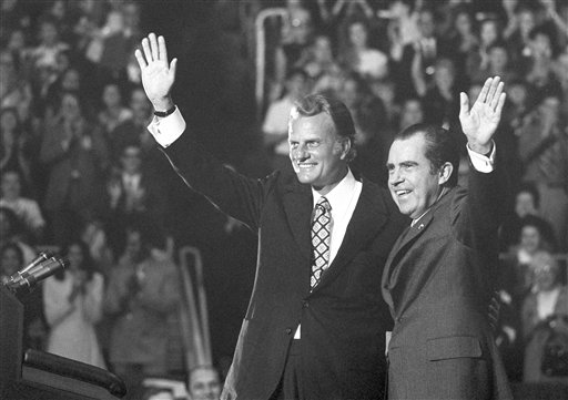 Billy Graham had more faith in men like Rcihard Nixon than in the King of the Jews.