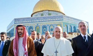The Pope likes to visit the schrines of Islam, and evn pray towards Mecca.