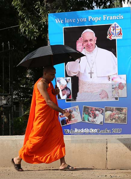 The Buddhists welcomed a Pope, who used this oportunity to recognize Buddah as god.