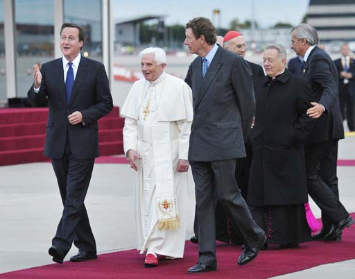 David Cameron should stop giving the Pope's a red carpet welcome, discening their betrayals.