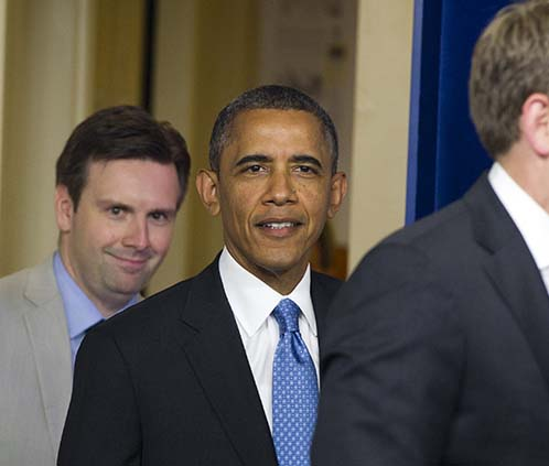 Josh Earnest tells the World what Obama has told him to say.
