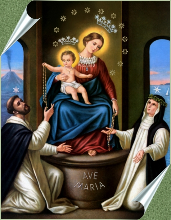 The lady of the Rosary of Pompeei has a son who tell his followers to pray the rosary.