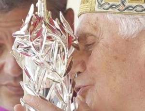 This is how the Pope apply blood for the use of witchcraft.