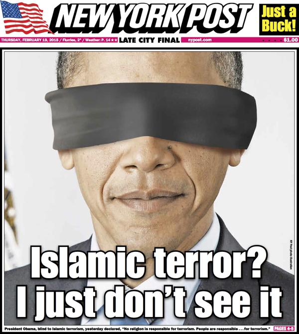 President Obama is a blind guid, taking the American nations towards disaster.