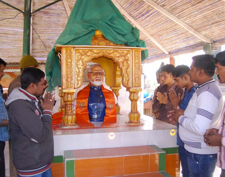 Hindus in the state of Gujarat has started to worship their prime minister in a temple.