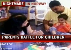 There were riots in New Delhi protesting the Norwegian governments kidnapping of children.