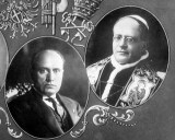 Pope and Mussolini wereallies