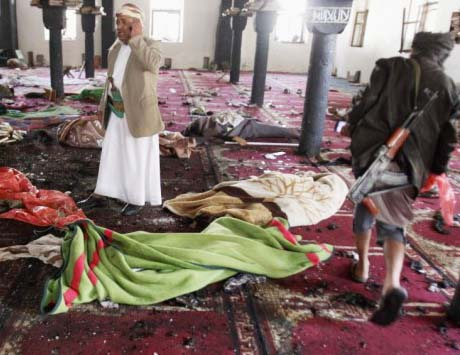 Muslims killed Muslim in a Friday prayer session where America and Israel were being cursed.